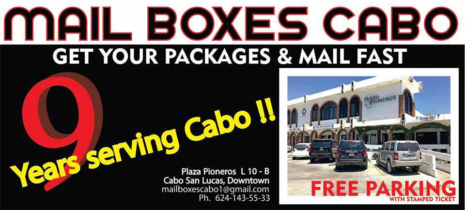 Mail Boxes Cabo, 9 years serving Cabo San Lucas